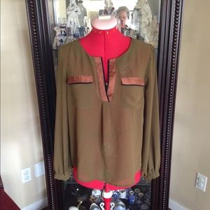 Olive colored blouse