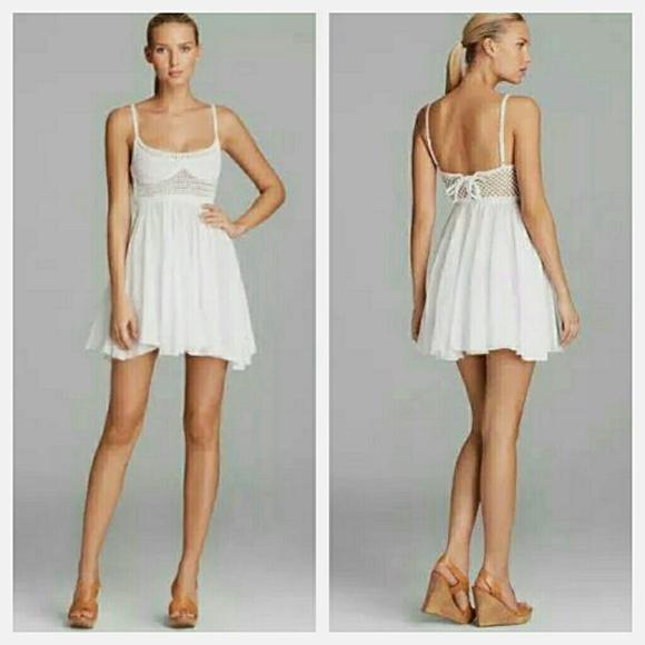 0cc3d0c523 Surf Gypsy Crochet White Swing Boho Dress LF. M_55237af88f0fc4529e0128f6