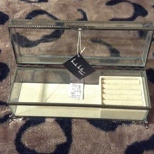 Nicole Miller Accessories Clear Glass Jewelry Box Poshmark