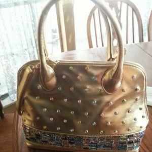 Handbags - Bollywood Gold Godess Purse