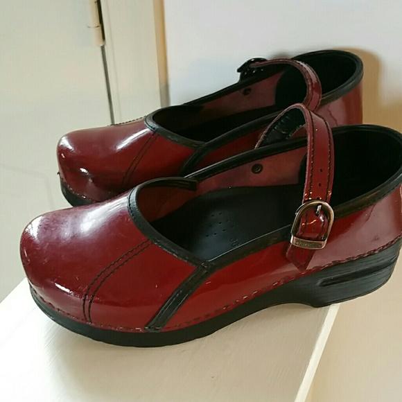848baf6594fc Dansko Shoes - Red Mary Jane patent leather Dansko shoes
