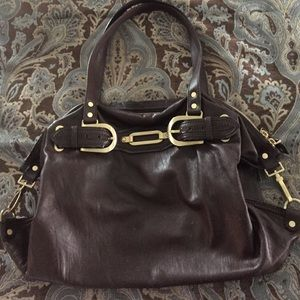 Brown large jimmy choo bag AUTHENTIC