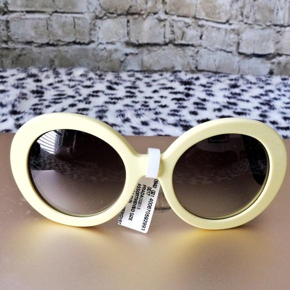 9fa35e9a30aa ... closeout 100 prada yellow black baroque round sunglasses ad560 0eb16