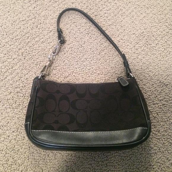 Black Coach pochette bag