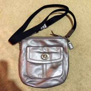 Authentic leather Coach crossbody bag