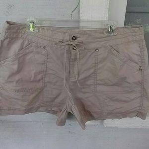 INC Khaki Shorts Size 16 With Stretch