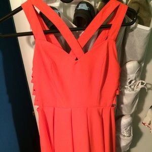 Orange summer/ homecoming dress from Etiquette