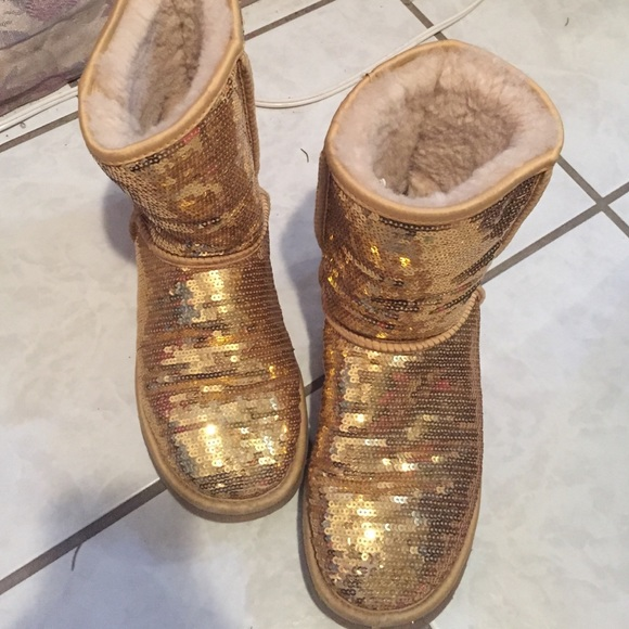 Gold Sequin Uggs Hard to Find Gold Sequin Uggs