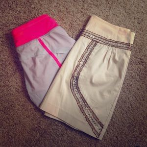 Other - BUNDLE Ark & Co. Skirt and lululemon shorts