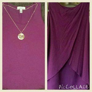 PRICE DROP!! Anthro inspired Purple petals shirt