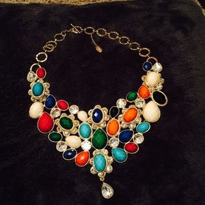 Amrita Singh Jewelry - Multi-faceted/multi jeweled Statement Necklace