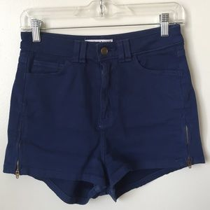 American apparel high waisted zipper shorts 26/27