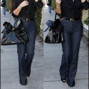 ANLO Denim - $198 ANLO Wide Leg Stretch Denim Jeans 27 Navy