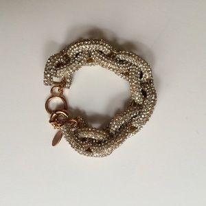 Ily Couture Jewelry - Rhinestone Pave Link Bracelet