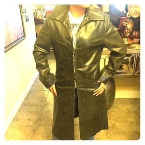 Lucien Piccard Jackets & Blazers - Awesome olive green genuine leather coat!!!