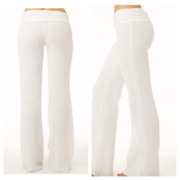 74% off Pants - White beach pants linen small from Mary's closet ...