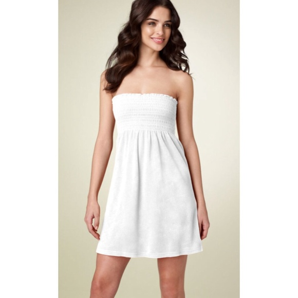 4f4649a1f78 Juicy Couture Dresses   Skirts - Juicy Couture White Strapless Coverup