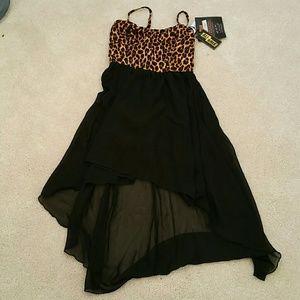 Ali & Kris Dresses & Skirts - Leopard print  high low dress