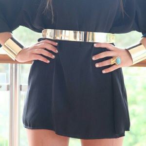 Gold Plated Metal Belt