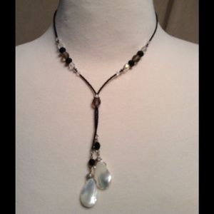 Mother of pearl  beaded necklace .
