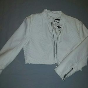 Jackets & Blazers - White Leatherette Jacket