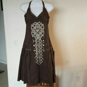 Dresses & Skirts - REDUCED NWT cotton  brown dress size.  S