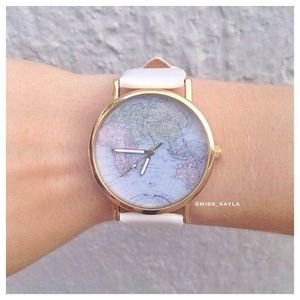 White Map Watch