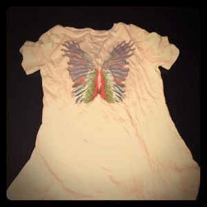Wildfox couture butterfly shirt top sz small