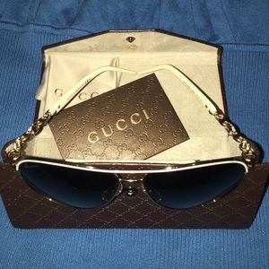 Gucci aviator in white.to small for me