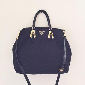 prada purse purple