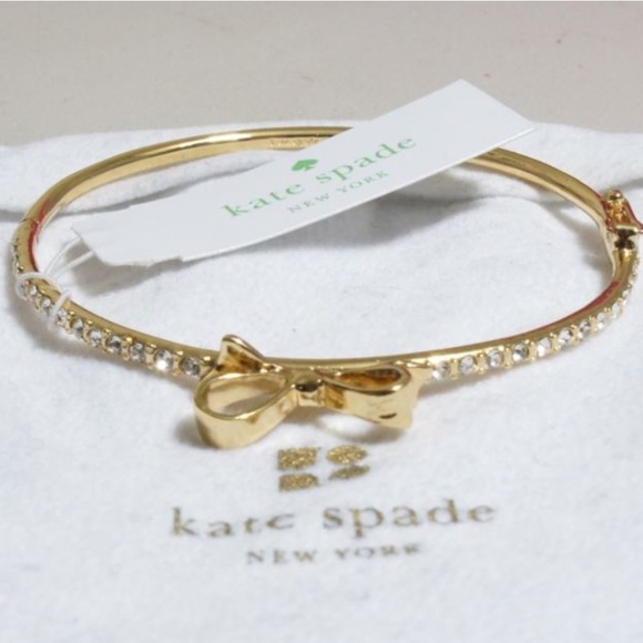 Kate Spade Kate Spade Love Notes Pave Bow Bangle From