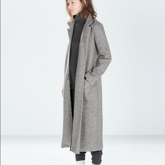 Long Grey Wool Coat