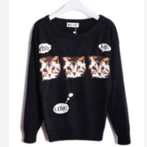 Sweaters - Purrfect Kitty Pullover Sweater