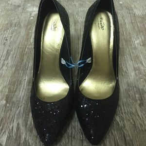 Mossimo Supply Co Shoes - Black glitter heels