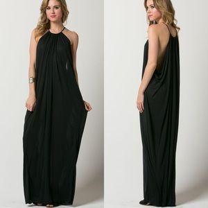 """""""Aphrodite's Favor"""" Black Maxi Dress"""