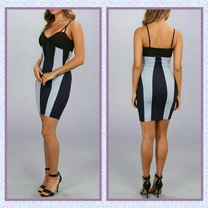 NWT- 3 shades of blue spaghetti strap dress