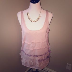 JCrew Ruffled Cotton Tank