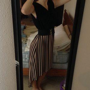 Dresses & Skirts - Black and honey high low maxi dress