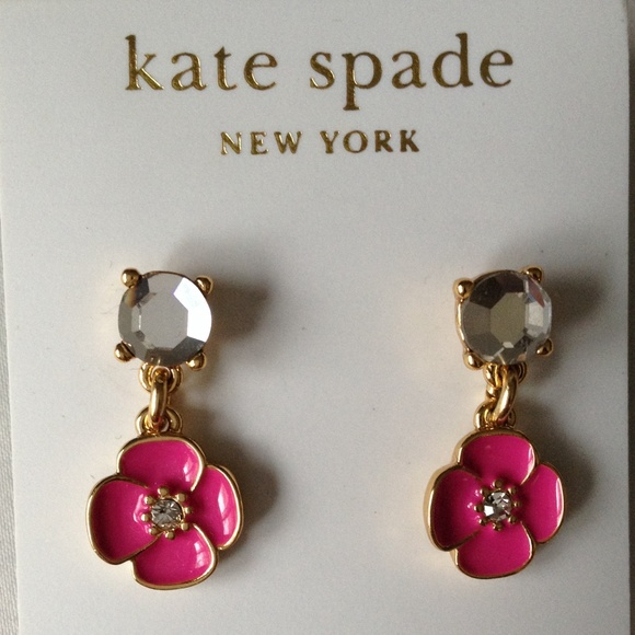 Kate Spade Accessories Pink Flower Station Dangle Earring Poshmark