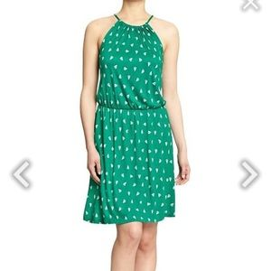 Green Old navy jersey sailboat dress