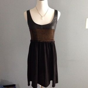 Urban Outfitters renewal leather and knit dress