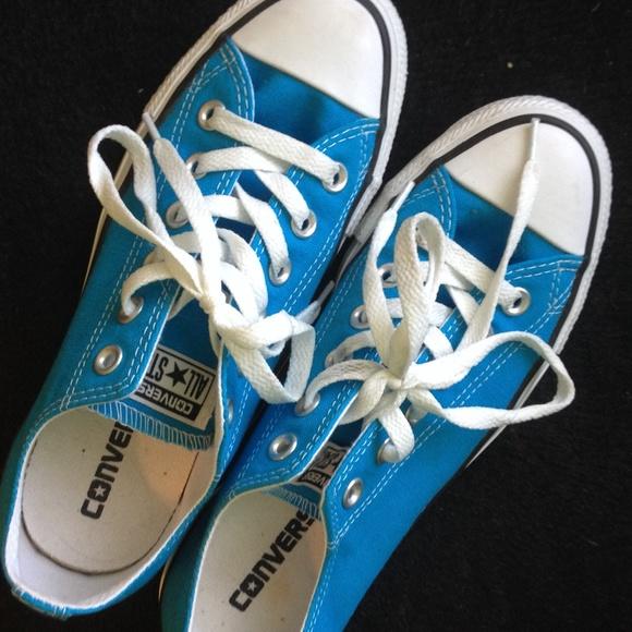Ocean Blue Converse   Poshmark