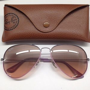 Authentic Ray Ban Aviator Sunglasses - Lavender/Gr