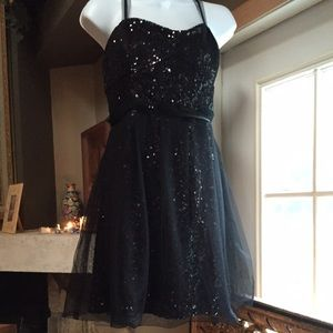 FRENCH CONNECTION BLACK PROM DRESS