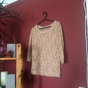 Anthropologie lace top with 3/4 sleeves