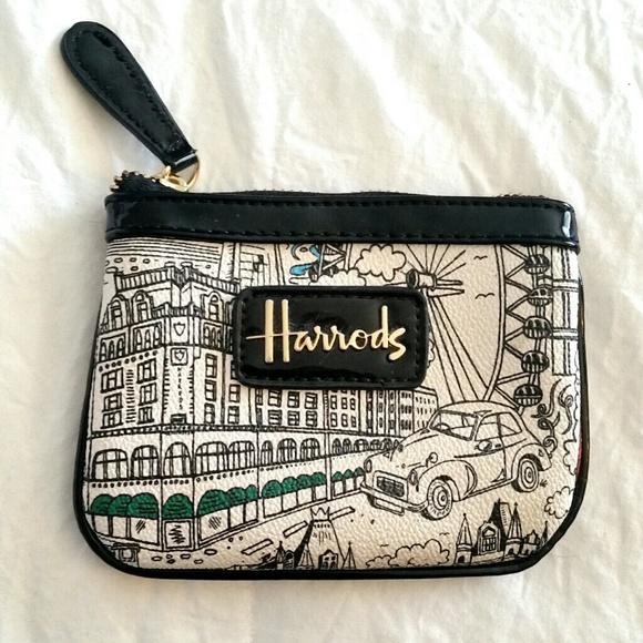 3b63198a2c Harrods London black patent coin purse