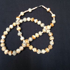 "Jewelry - 28"" Genuine Agate necklace."