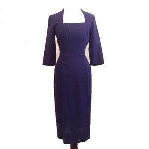 True Vintage Purple 1950's Wiggle Dress