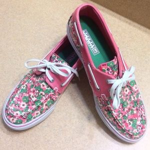 Sperry Top-Sider Shoes - ✨Sperry✨New pink and white with flowers🌸topsiders