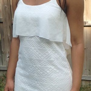 Flowy lace shift dress